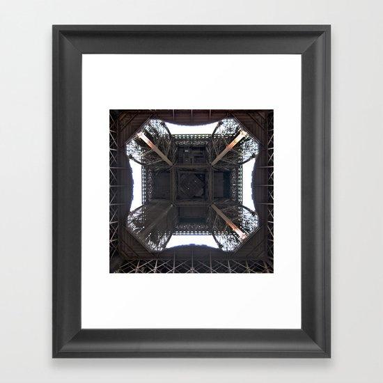Under Eiffel HDR Framed Art Print