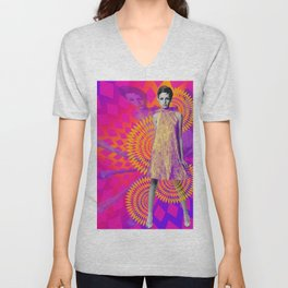 Supermodel Twiggy 1 - Supermodels of the Sixties Series Unisex V-Neck