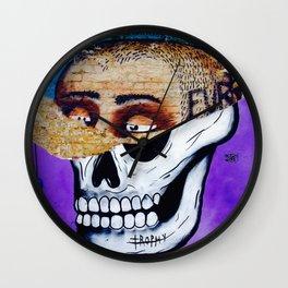 half skull Wall Clock