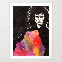sandman Art Prints featuring Sandman by KrisiGeeArt