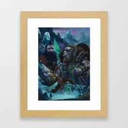 A fallen brother Framed Art Print