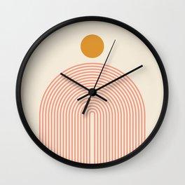 Abstraction_SUN_LINES_VISUAL_ART_Minimalism_001 Wall Clock