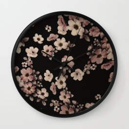 FLORAL PINK CHERRY BLOSSOM Wall Clock