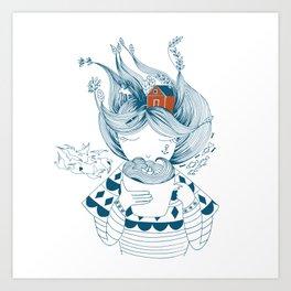 Scandinavian seaman's wife Art Print