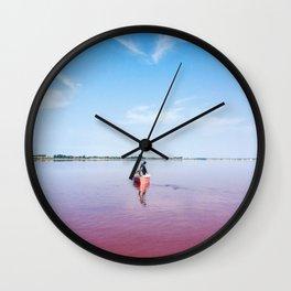 The Pink Lake Print Wall Clock