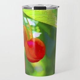 Red Cherries Painting Travel Mug