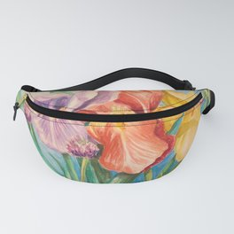 Irises and Chives Fanny Pack
