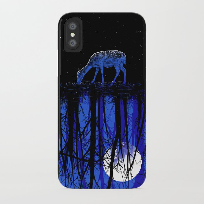 deep blue forest iPhone Case