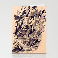 chaos Stationery Cards featuring Chaos by nicebleed