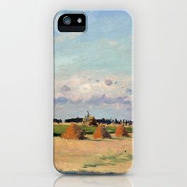 Camille Pissarro Landscape, Ile-de-France iPhone Case