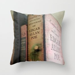 Pink Poe Throw Pillow