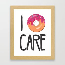 i Donut Care Framed Art Print