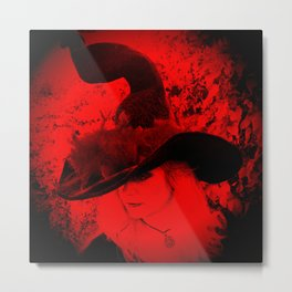 Red Witch Metal Print