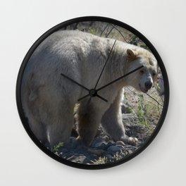 Spirit Bear Portrait III Wall Clock