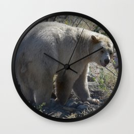 Spirit Bear Portrait III Wall Clock