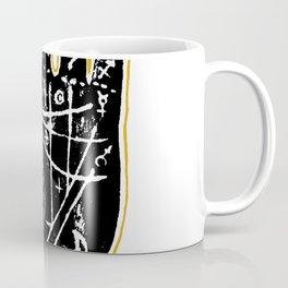 Black palmistry hand Coffee Mug
