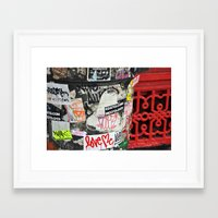 stickers Framed Art Prints featuring Stickers by Kirstie Battson