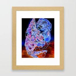 Astrology Illustration Series-Pisces Framed Art Print