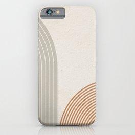 Mid Century Line Art V iPhone Case