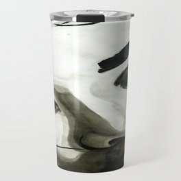 BLACK WHITE AND A LITTLE GOLD COLLECTION Travel Mug