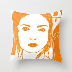 WUTHERING HEIGHTS - LINO (ORANGE VERSION)  Throw Pillow