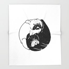 The Tao of French Bulldog Throw Blanket