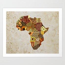 African Map II Art Print