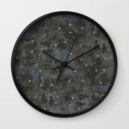 Watercolor Black Starry Sky Robayre Wall Clock