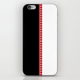 Abstract Black, White & Red iPhone Skin
