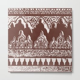 Moroccan Ornament Metal Print
