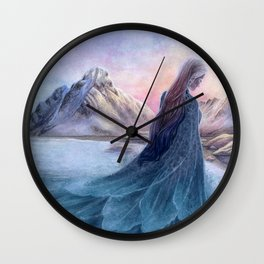 The Selkie's Cloak Wall Clock