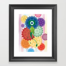 Between The Flowers Framed Art Print