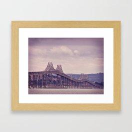 San Fran Bay Bridge Framed Art Print