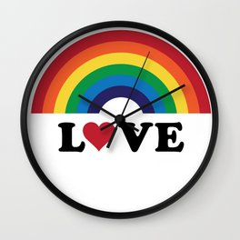 70's Love Rainbow Wall Clock