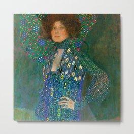 """Gustav Klimt """"Emilie Flöge"""" Metal Print"""