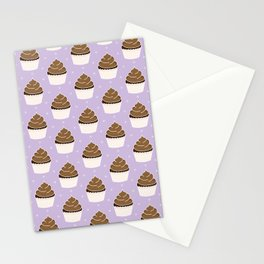 Chocolate Cupcakes with Frosting Stationery Cards