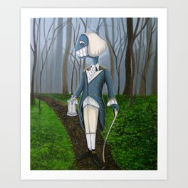 Mourning Walk Art Print