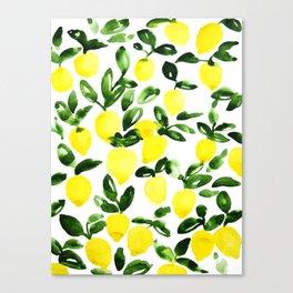Summer Lemons Canvas Print
