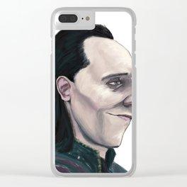 Caricature of Loki Hiddleston Clear iPhone Case