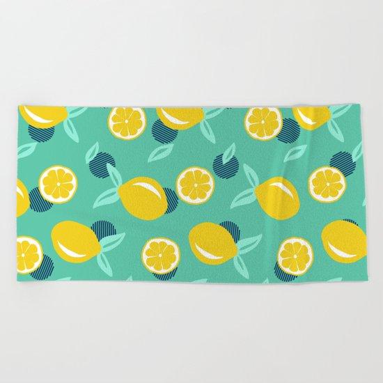 Lemon dots #society6 #decor #buyart Beach Towel