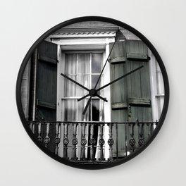 NOLA Shutters Wall Clock