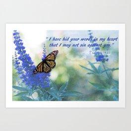 Butterfly Psalms  Art Print