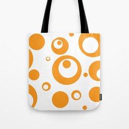 Circles Dots Bubbles :: Marmalade Inverse Tote Bag