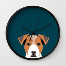 Bailey - Jack Russell Terrier phone case art print gift for dog people Jack Russell Terrier owners Wall Clock