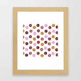 Donut Love Framed Art Print