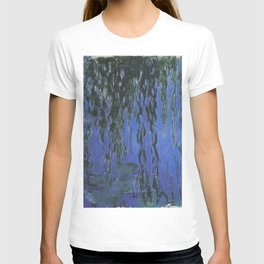 Water Lilies and Weeping Willow Branches by Claude Monet T-shirt
