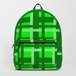 Plaid -- Lime Backpack