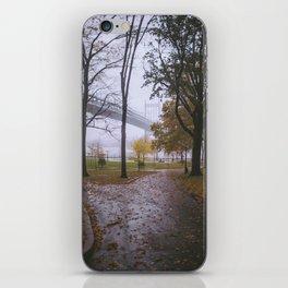 Rainy Autumn in Astoria Park iPhone Skin