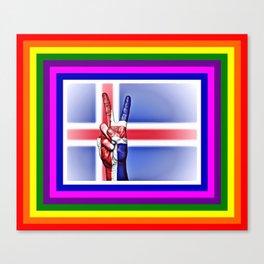 Iceland World Peace Flag Canvas Print