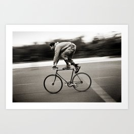 Bicycle Messenger #7 Art Print